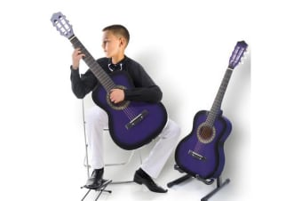 "34""Acoustic Guitar for Children Wooden Purple"