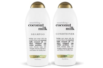 OGX 750ml Nourishing Haircare Treatment Coconut Milk Hair Shampoo/Conditioner