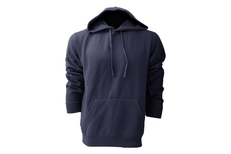 Russell Colour Mens Hooded Sweatshirt / Hoodie (French Navy) (XL)