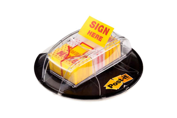 Post-it Flags Disk Grip Dispenser (254mm x 432mm)