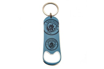 Manchester City FC Bottle Opener Keychain (Blue) (One Size)