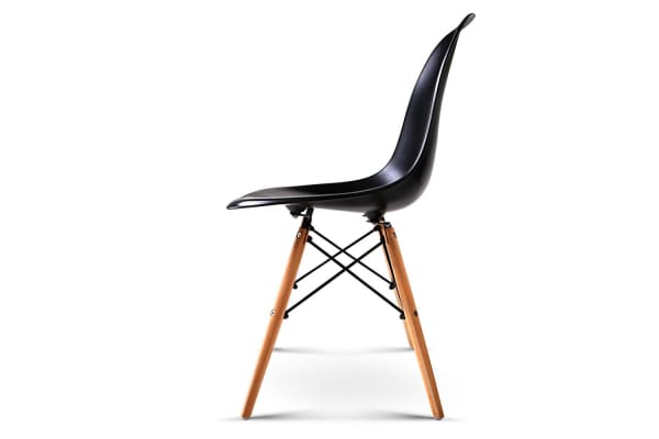 Set of 4 Replica Eames Eiffel Dining Chairs (Black)