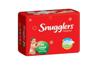 52PK Snugglers Small Size 0-8kg Super Absorbency Nappy
