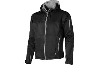 Slazenger Mens Match Softshell Jacket (Solid Black)