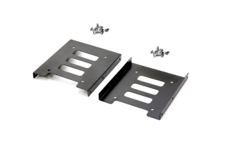 "2 Pack 2.5"" to 3.5"" SSD HDD Hard Disk Drive Bays Holder Metal Mounting Bracket Adapter for PC"