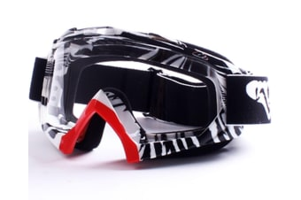 Ski Goggles Winter Outdoor Sports With Anti-Fog Double Lens Large Spherical For Skate White
