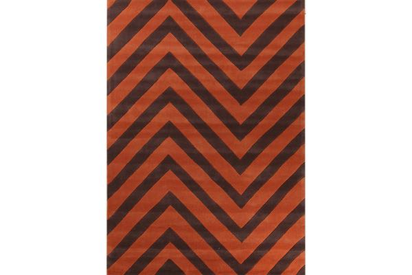 Chevron Jaffa Orange Rug 280x190cm