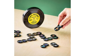 Vinyl Music Record Dominoes With Groovy Gift Tin
