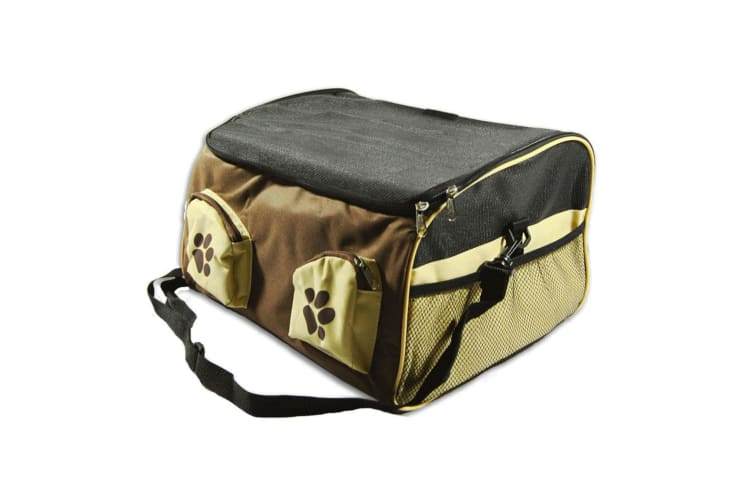 Portable Pet Carrier Car Booster Seat Soft Crate Cage Travel Bag XL