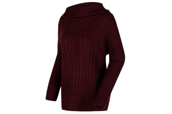 Regatta Great Outdoors Womens/Ladies Karlee Cowl Neck Cable Knit Sweater (Fig) (16)