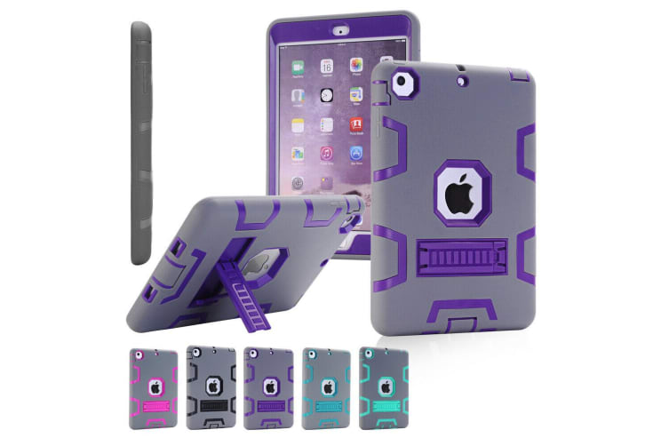Kids Shockproof Case Heavy Duty Tough Kick Stand Cover For iPad Pro 9.7 Inch 2016-Type3-PurpleGrey