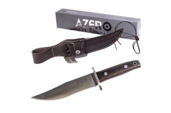 AZERO 200111 EBONY HUNTING KNIFE 17 CM BLADE ACX 380 STAINLESS FULL TANG BLADE