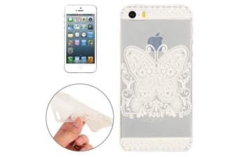 For iPhone SE 5S 5 Case Elegant Slim Transparent Butterfly Protective Cover