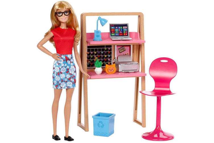 Barbie Doll and Home Office Playset