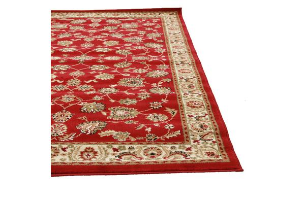 Traditional Floral Pattern Rug Red 230x160cm