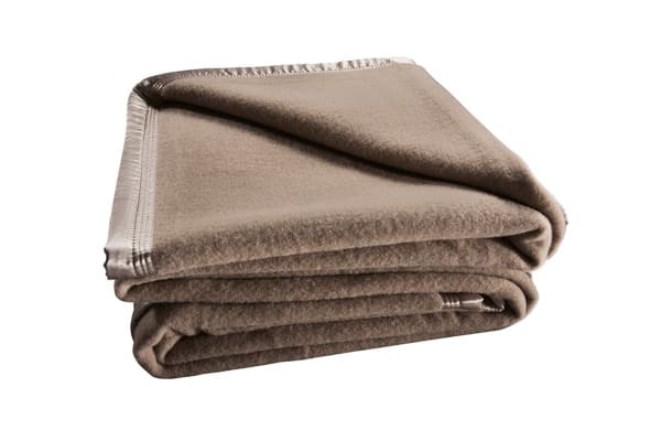 Bianca 480GSM Wool Blanket (Cot/Mocca)