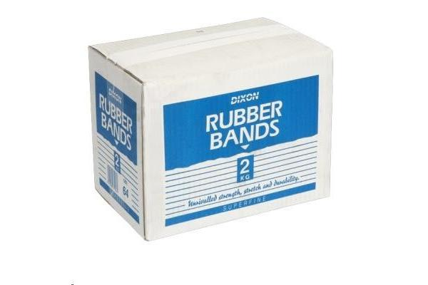 Dixon No.64 Rubber Bands - 2kg - 6.4mm x 89mm