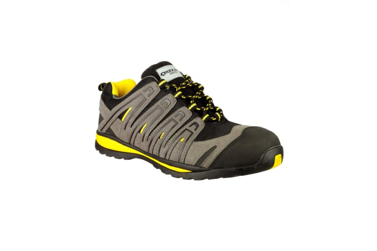 Amblers Safety FS42C Safety Trainer / Mens Shoes (Black/Grey/Yellow) (6 UK)