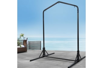 Double Hammock Chair Stand Steel Frame 2 Person Outdoor Heavy Duty