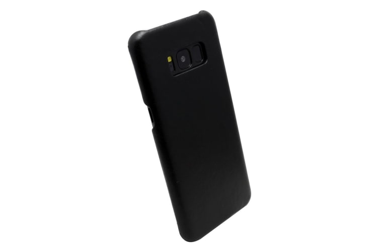 For Samsung Galaxy S8 Case Modern Genuine Durable Protective Leather Cover Black