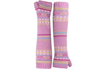 Trespass Childrens Girls Dione Knitted Arm Warmers (Blossom)