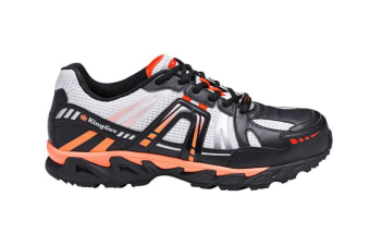 King Gee Men's Comp-Tec G11 Sport Safety Shoe (Black/Orange, Size 9)