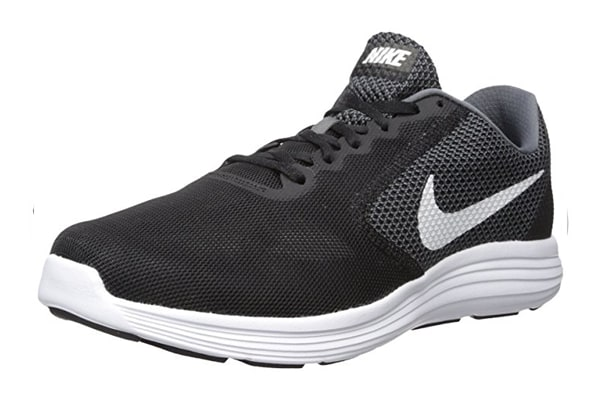 Nike Men's Air Revolution 3 Shoe (Dark Grey/White/Black, Size 8.5)