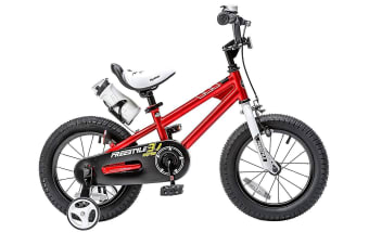 RoyalBaby Freestyle Kid's Bike for Boys and Girls, 12 14 16 inch with Training Wheels, 16 18 20 inch with Kickstand Red Colour