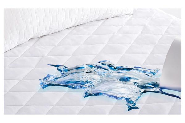 Fitted Cotton Cover Quilted Mattress Protector  KING