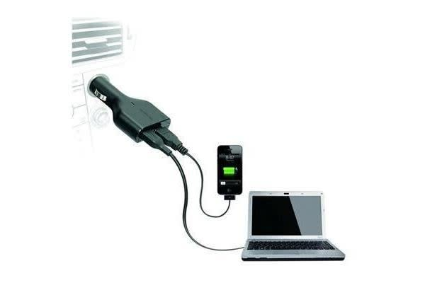 Targus APD046AU Laptop Car Charger + with USB Fast Charge via Cigarette Lighter