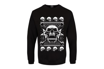Grindstore Mens Skull Fury Jumper (Black) (L)