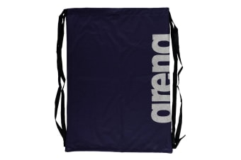 Arena Fast Mesh Backpack Drawstring Bag f/ Swimming Suits/Sports Training Navy