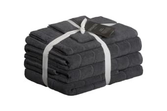 Sheraton Subway Textured 5 Piece Towel (Set Slate)