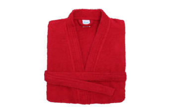 Comfy Unisex Co Bath Robe / Loungewear (Red)
