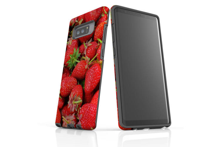 For Samsung Galaxy Note 8 Case  Shielding Back Cover  Strawberries