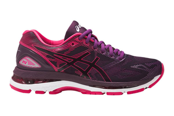 4fb1c7b4da81e ASICS Women's Gel-Nimbus 19 Running Shoe (Black/Cosmo Pink/Winter Bloom