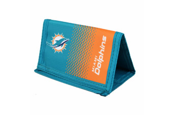Miami Dolphins Official NFL Fade Crest Design Wallet (Aqua/Orange) (One Size)