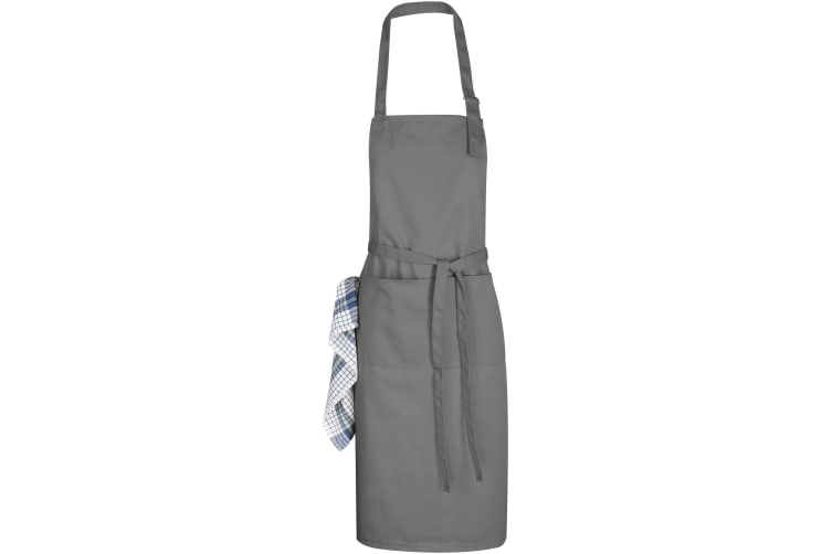 Bullet Zora Adjustable Apron (Pack of 2) (Grey) (67 x 96 cm)