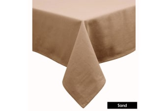 Cotton Blend Table Cloth 170cm x 360cm  - SAND