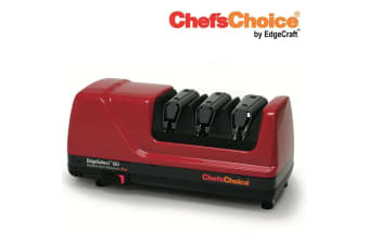 CHEF'S CHOICE PRO ELECTRIC DIAMOND HONE KNIFE SHARPENER 120 RED EdgeSelect