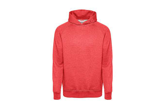 FDM Tagless Media Hoodie (Heather Fire Red) (S)