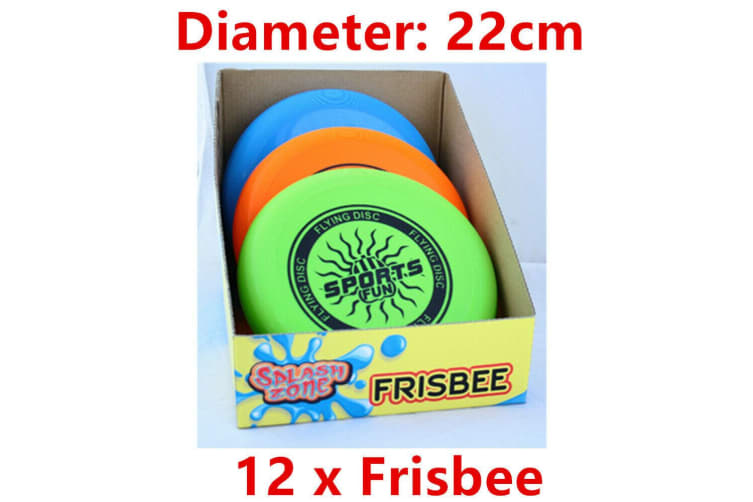 12 x Frisbee Flying Disc 22CM Sports Event Throw Swimming Pool Beach Game Outdoor