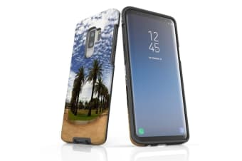 For Samsung Galaxy S9+ Plus Case Armour Cover  Palm Walkway Paths