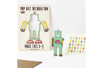 Pop Out Decoration Greeting Card - Robot