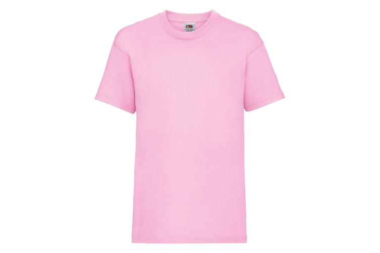 Fruit Of The Loom Childrens/Kids Unisex Valueweight Short Sleeve T-Shirt (Pack of 2) (Light Pink) (2-3)