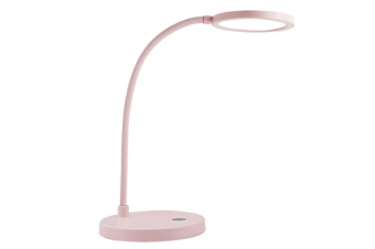 Select Mall Simple Nordic Creative Bedroom Home Table Lamp Touchable Promise Dimming Table Lamp Bedside Night Light-Pink