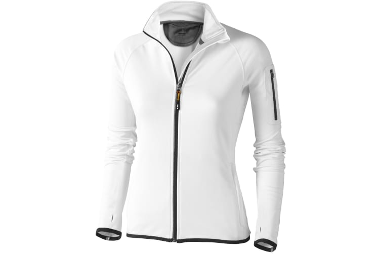 Elevate Womens/Ladies Mani Power Fleece (White) (L)