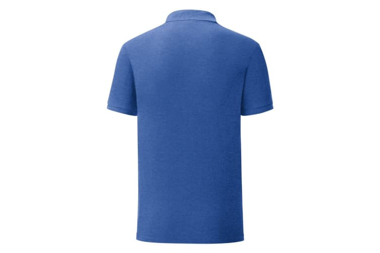 Fruit Of The Loom Mens Iconic Pique Polo Shirt (Heather Royal) (XL)