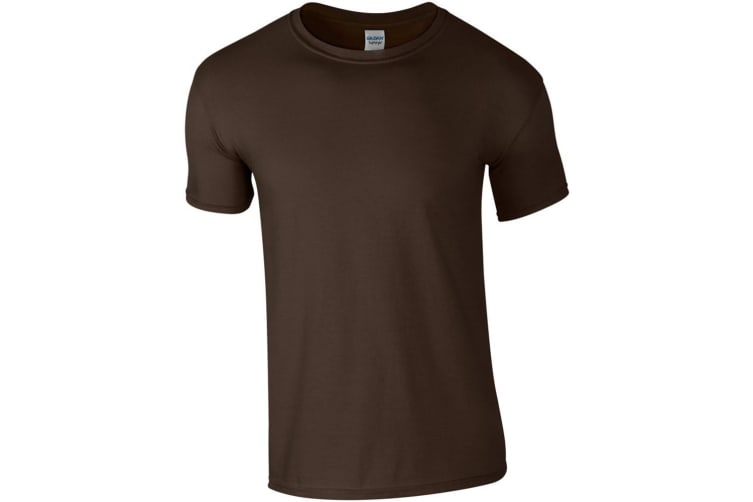 Gildan Mens Short Sleeve Soft-Style T-Shirt (Dark Chocolate) (XL)