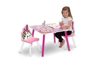 Delta Children Rainbow Dreams Table and Chairs Set